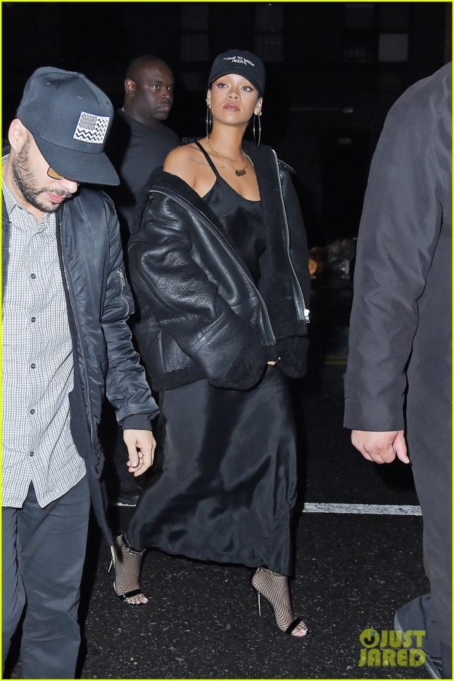 Rihanna joins rumored boyfriend Travis Scott at Up & Down **USA ONLY**