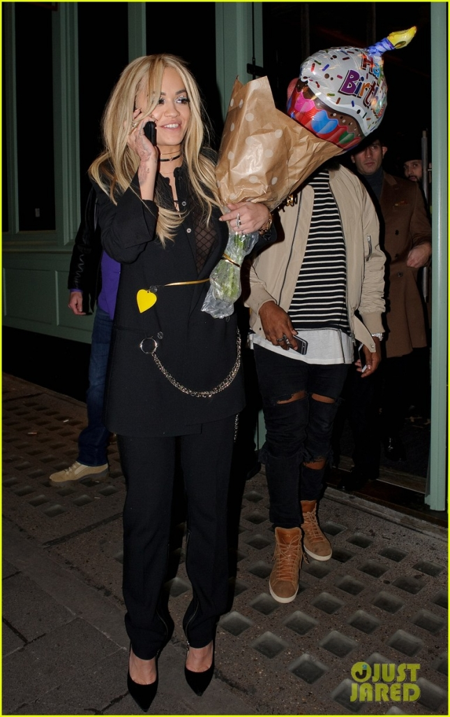 Rita Ora celebrates her birthday with family and friends at 'Sexy Fish' **USA ONLY**