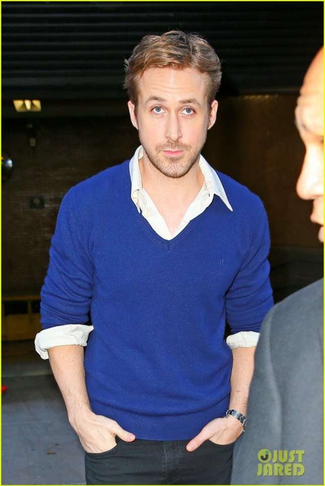 Ryan Gosling seen exiting the Four Seasons Restaurant in New York City
