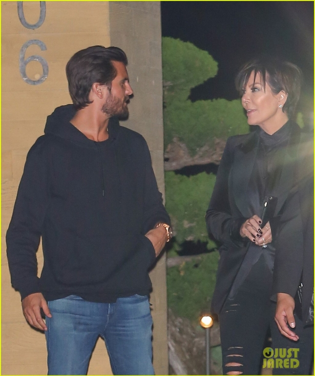 *EXCLUSIVE* Scott Disick in good spirits after a sushi dinner with Kris Jenner