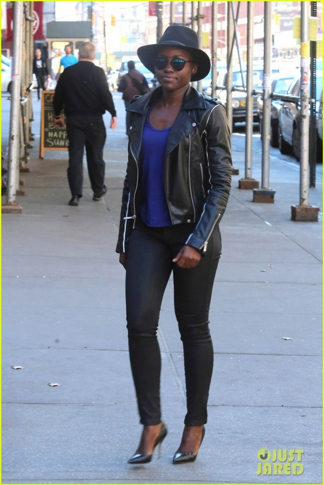 Stylishly chic Lupita Nyong'o attends her show matinee in NYC