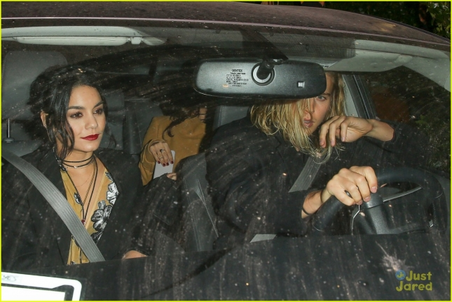 Vanessa Hudgens and Austin Butler leaving a dinner date at Cecconi's restaurant