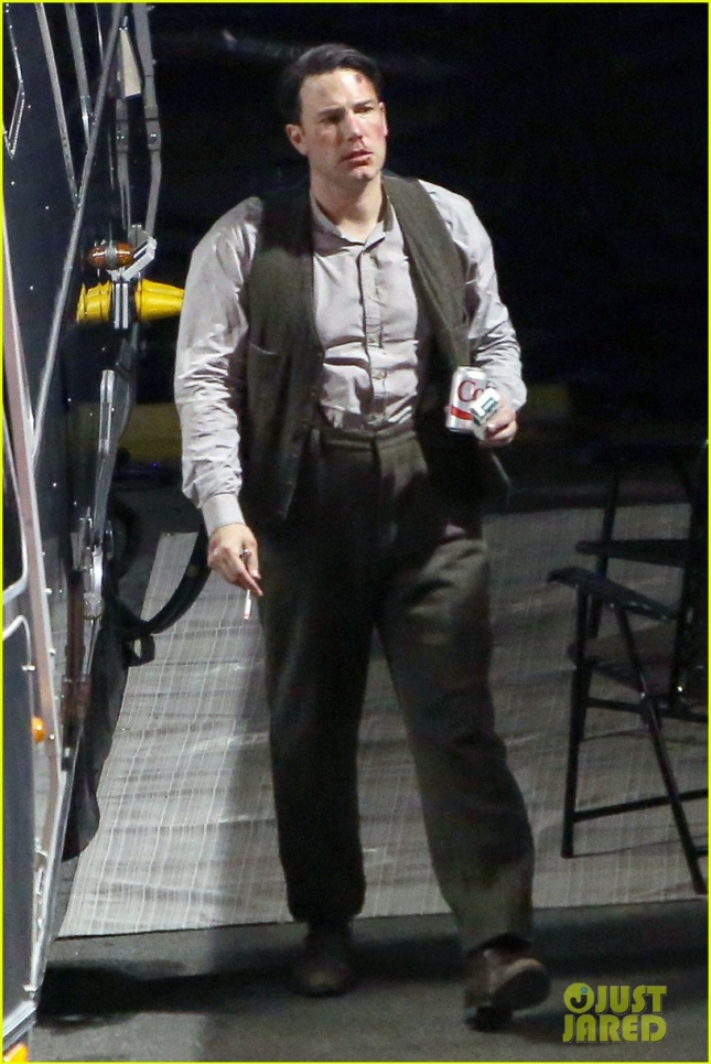 EXCLUSIVE: Ben Affleck seen on the set of 'Live By Night' in LA