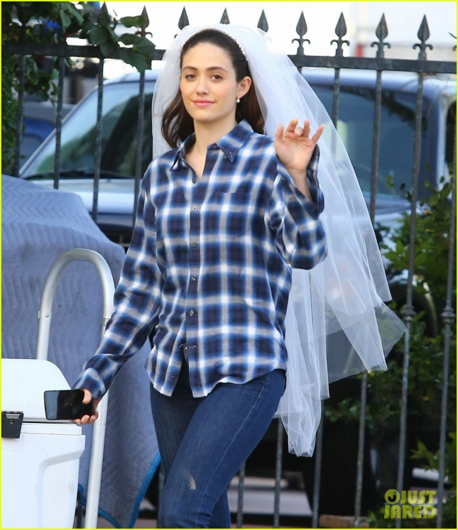 Emmy Rossum On The Set Of 'Shameless'