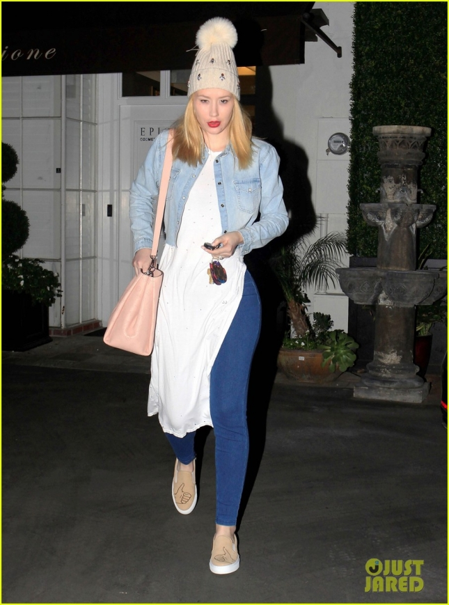 Iggy Azalea Leaving Epione In West Hollywood