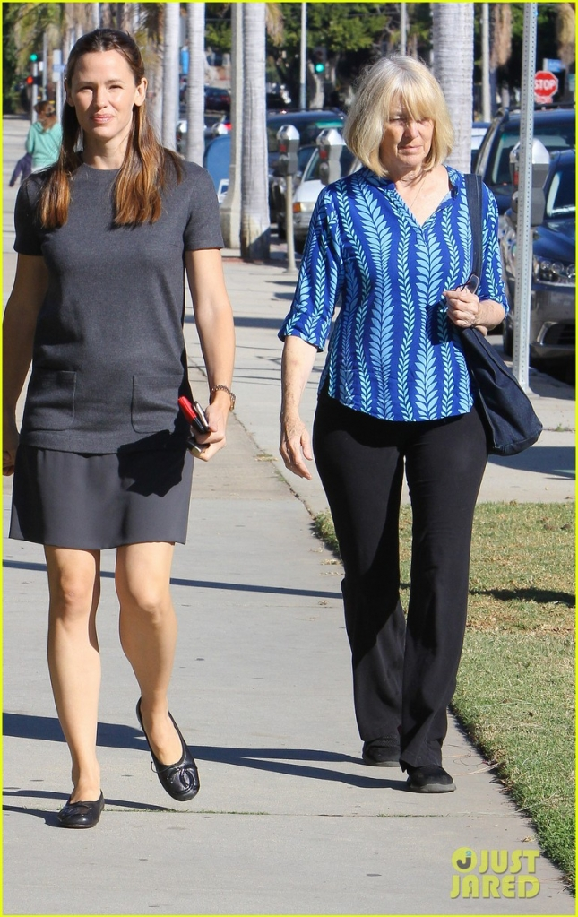 Jennifer Garner and Seraphina are happy gals on their way to Church