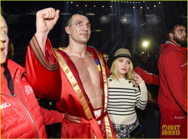 Celebs Attend World Championship Boxing Match In Germany