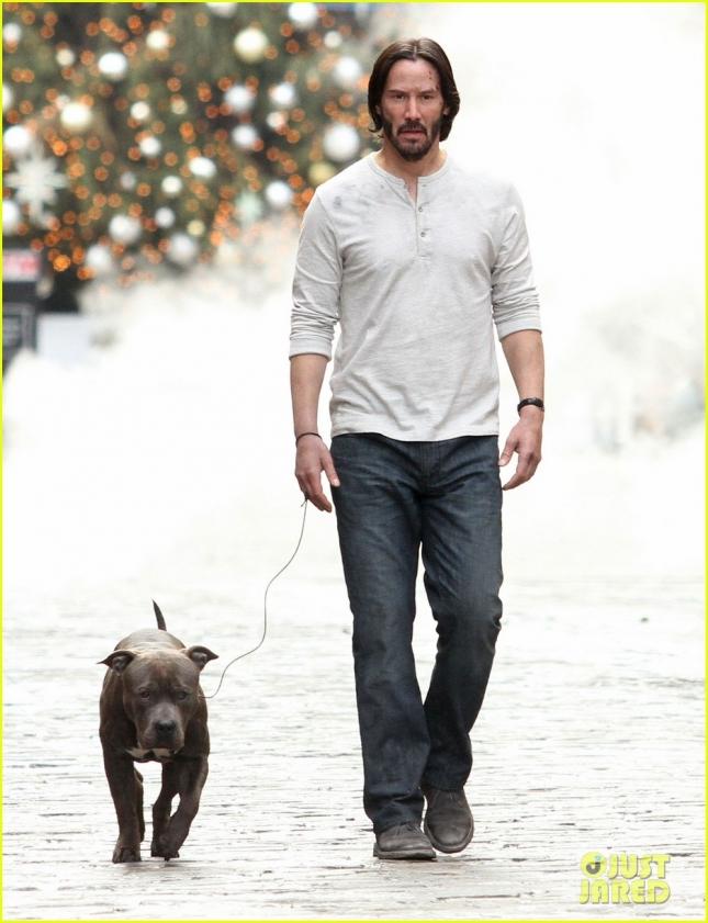 Keanu Reeves On The Set Of 'John Wick 2'