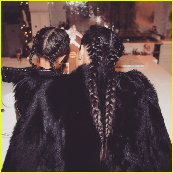 kim-kardashian-north-west-have-matching-christmas-braids