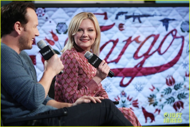 "Kirsten Dunst and Patrick Wilson Discuss Their Golden Globe Nominated Roles on the FX Series ""FARGO"" at a Taping of AOL Build"