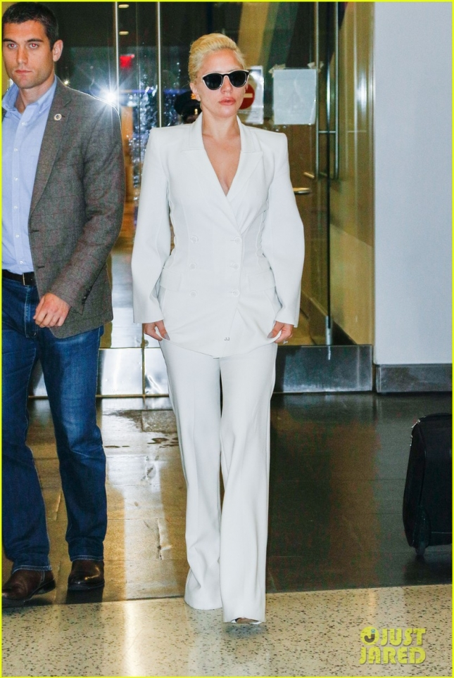 Lady Gaga is spotted at JFK airport in New York City
