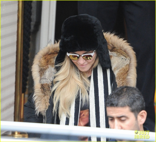 Madonna seen leaving a hotel in Amsterdam