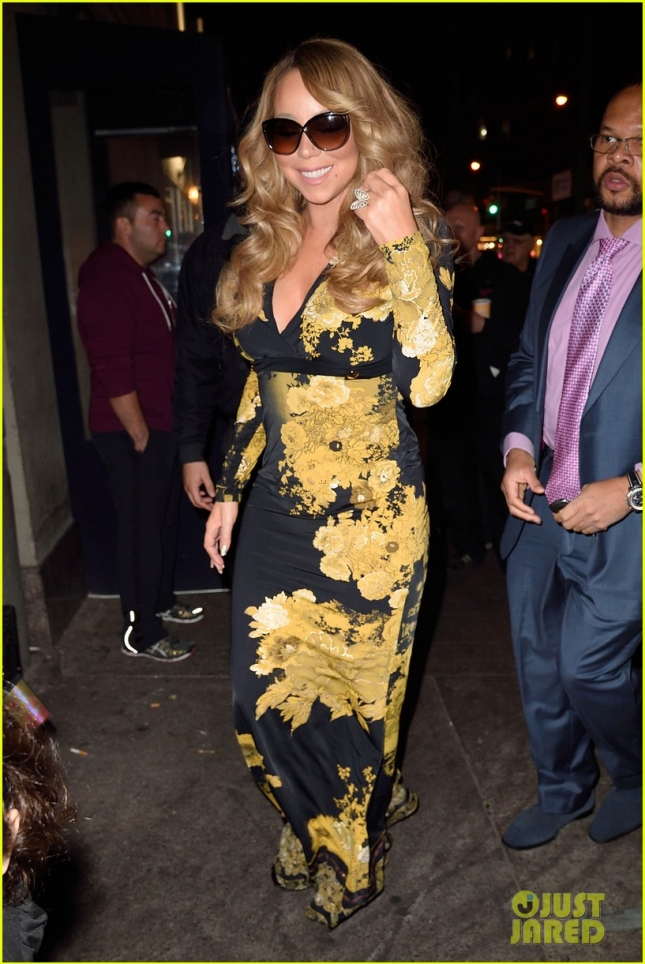 Mariah Carey heads to her concert in NYC.