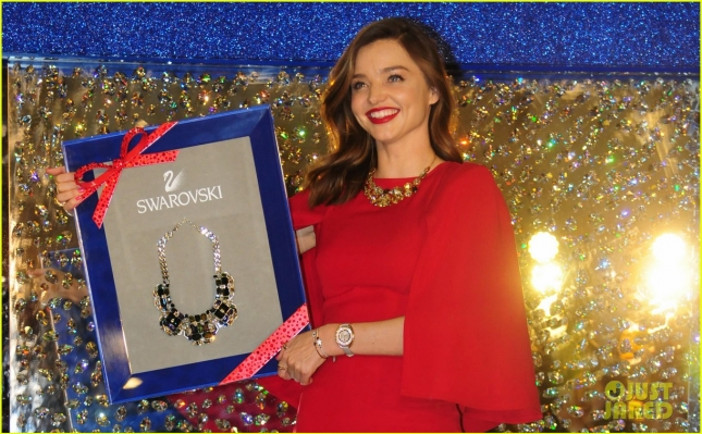 Miranda Kerr glams up Swarovski Christmas light-up ceremony in Shanghai
