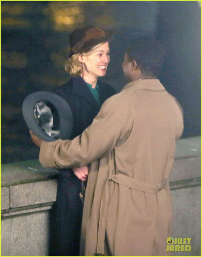 *EXCLUSIVE* Rosamund Pike and David Oyelowo film 'A United Kingdom' **USA ONLY**