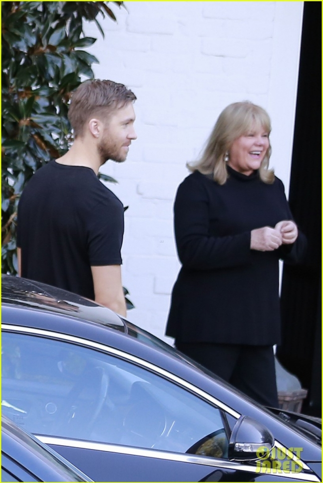 EXCLUSIVE: Taylor Swift celebrates her birthday with boyfriend Calvin Harris and her parents at a friends house in Beverly Hills