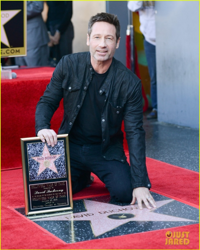 David Duchovny Receives A Star On The Walk Of Fame