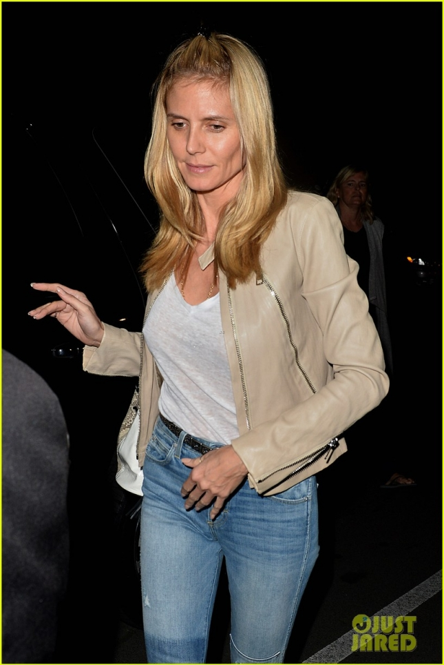 Heidi Klum and Her Family Have Dinner at Matsuhisa in West Hollywood