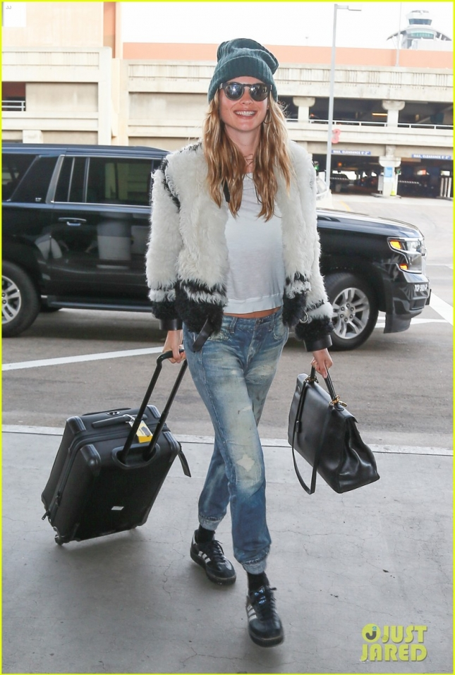 Behati Prinsloo Departs From LAX