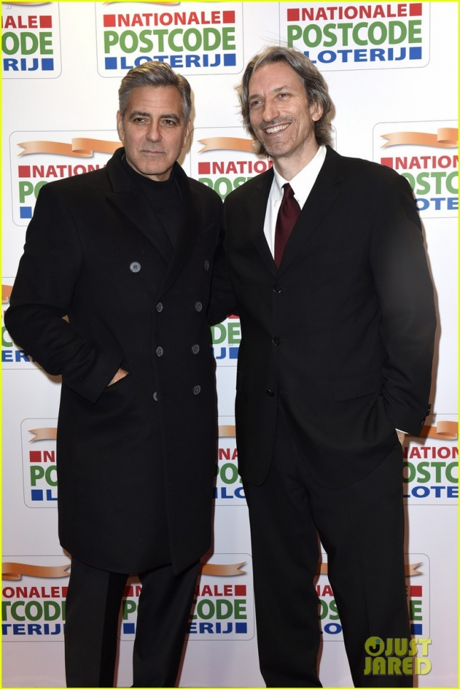 George Clooney attends the Good Money Gala of the Postcode Lottery at the Royal Theatre of Carre in Amsterdam