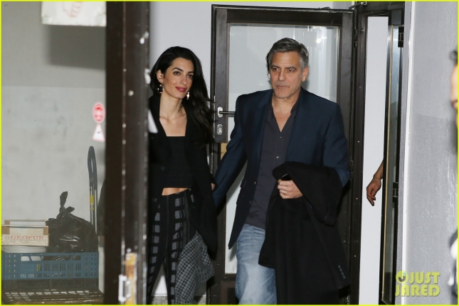 George Clooney and wife dinner at Grill Royal