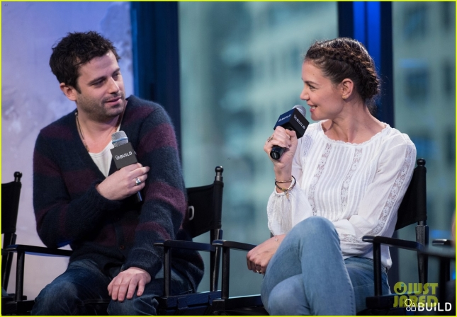 Katie Holmes, Luke Kirby, Jeremy Alter and Paul Dalio visit AOL Hq for Build on February 8, 2016 in New York. Photos by Noam Galai