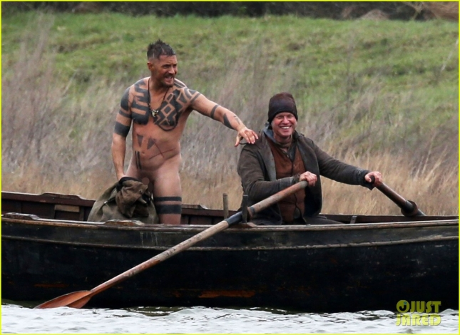 Exclusive... Tom Hardy Gets Naked On The Set Of 'Taboo' ***NO WEB USE W/O PRIOR AGREEMENT - CALL FOR PRICING***