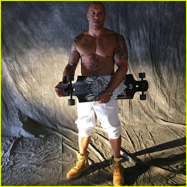 vin-diesel-goes-shirtless-in-a-towel-with-xander-cage-tattoos-05