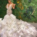 Платье с оборками и воланами