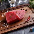 Тунец — 78% (процент суточной потребности витамина в 100 г.)