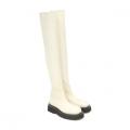 Белые сапоги до колена